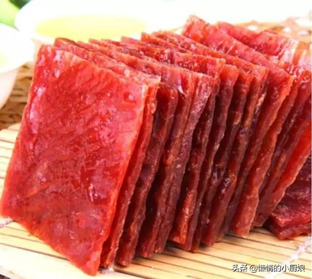 猪肉吃不完不要放冰箱,跟我学做成猪肉干,邻居小孩都要馋哭了