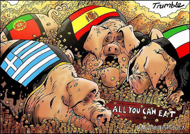 """欧州资本主义国家有四个我国,被称作""""金猪四国"""",简称是pig"""