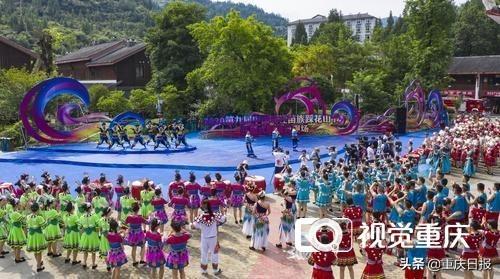苗族节日,2020·第九届中国乌江苗族踩花山节开幕