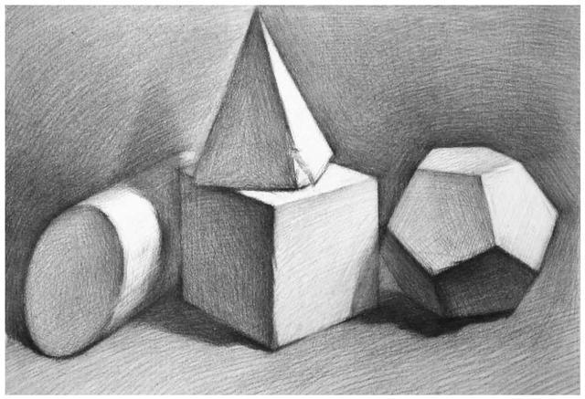 正方体怎么做,石膏几何体画法:分步骤讲解立方体画法,适合0基础临摹学习