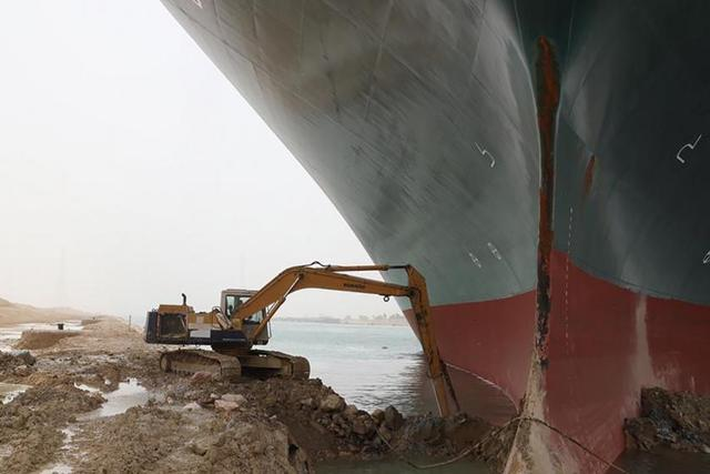 """苏伊士运河""""堵船""""给世界贸易导致损害做到4亿美金"""