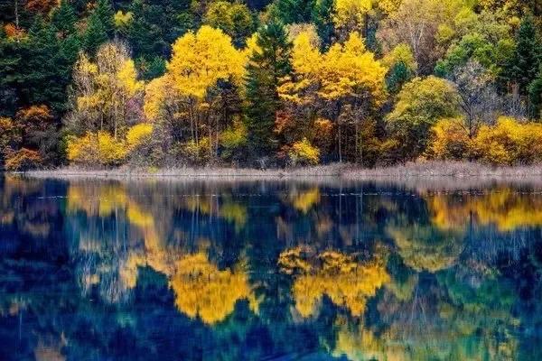 九寨沟景区,秋日里的童话世界、人间仙境九寨沟