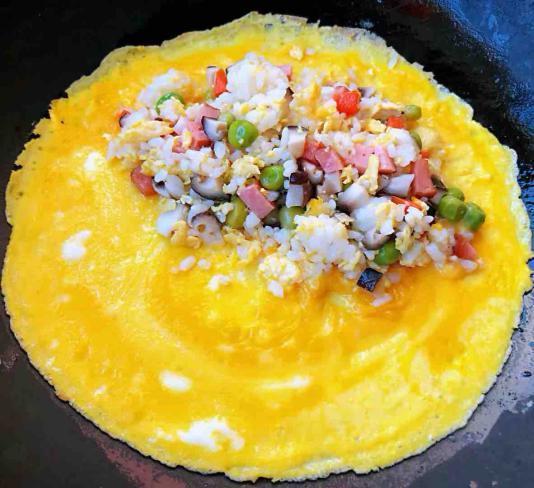 怎么做蛋包饭,蛋包饭,营养丰富,美味可口,在家也能做,孩子们超喜欢