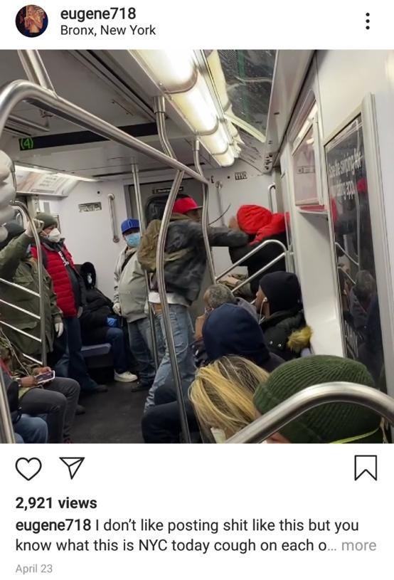 纽约种族歧视太严重!黑人地铁上殴打亚裔男子,周围乘客无人劝阻 全球新闻风头榜 第3张