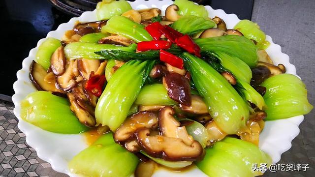 青菜的做法,做香菇油菜,最忌直接下锅炒,教你正确做法,香菇入味、油菜翠绿