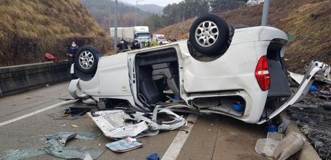 韩国高速路1日车祸事故导致7人死亡五人负伤