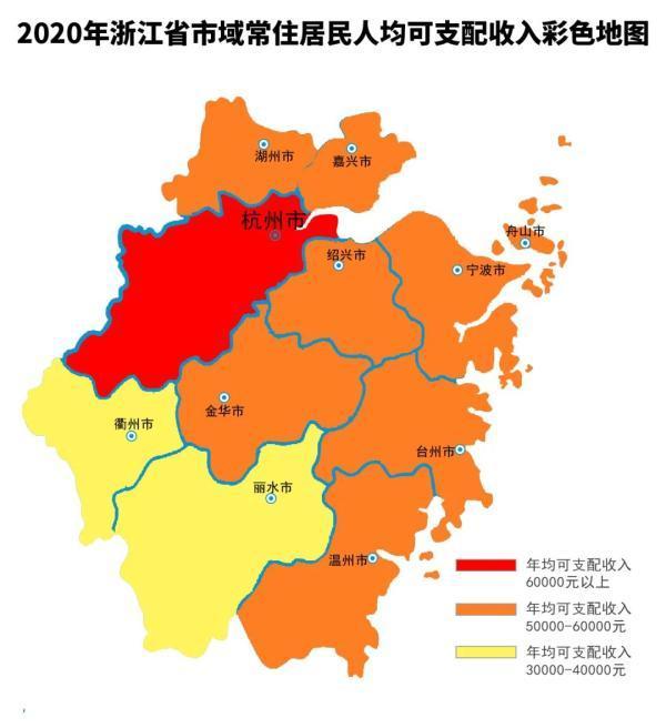 2020年浙江省全体人员住户人均消费开支31295元