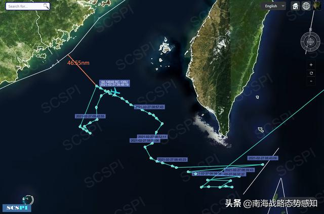 南海战略态势感知:美军RC-135U逼近广东海岸侦察