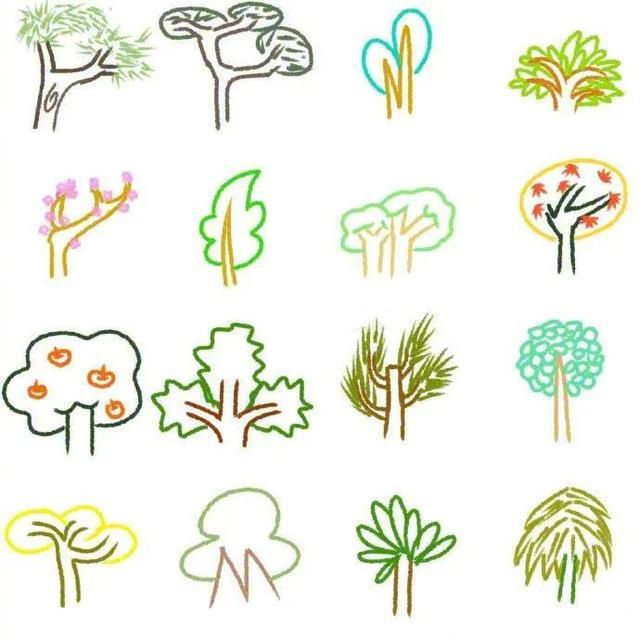 画画图片大全,非常全的植物简笔画,这下再也不怕在孩子面前画不出来了!