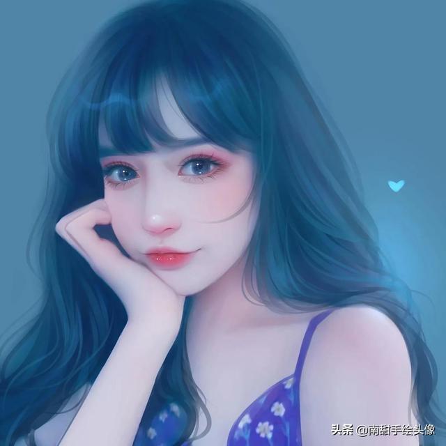 漫画头像女,比照片还好看的女生手绘头像  你也可以拥有梦幻漫画脸
