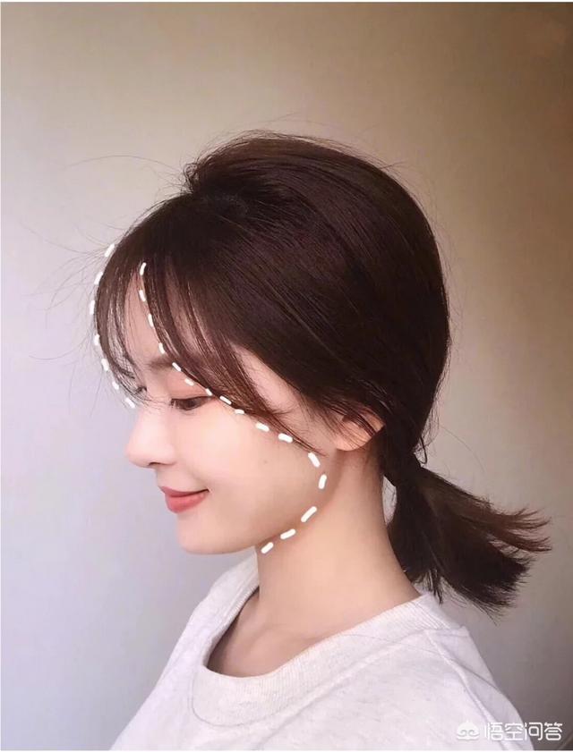 短脸额头窄怎样扎头发好看?