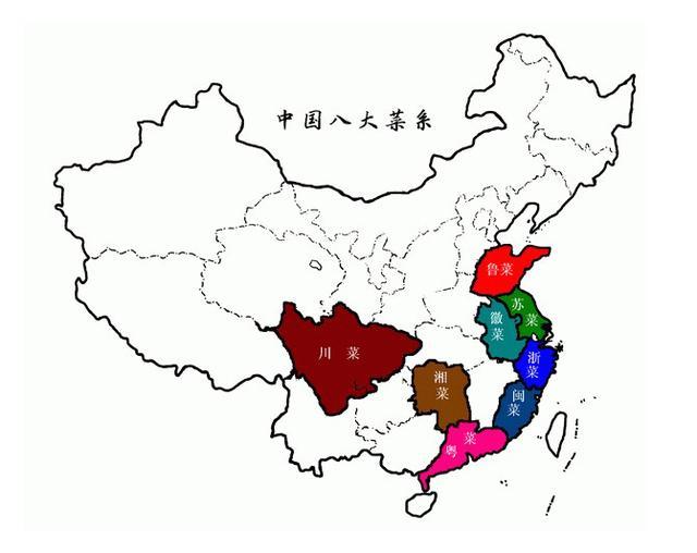 中国的八大菜系是什么?分别有什么代表菜?