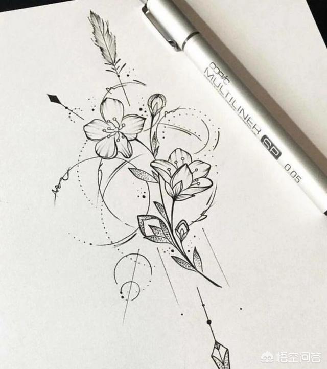 美女纹身图片大图,有哪些好看的女生纹身图?