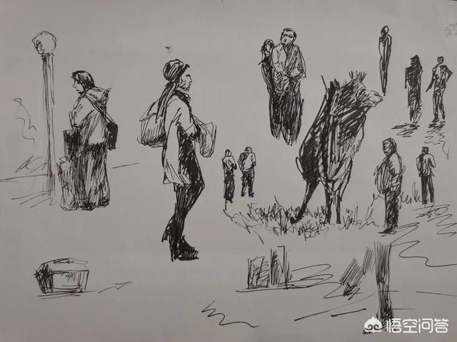 国庆简笔画,速写画和简笔画有什么不同?