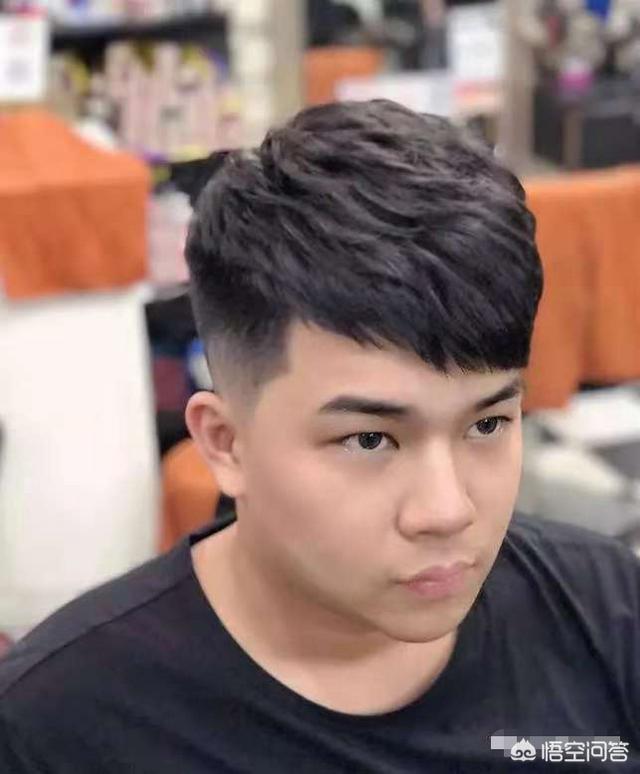 男生脸头像,圆脸男生应该烫什么发型?