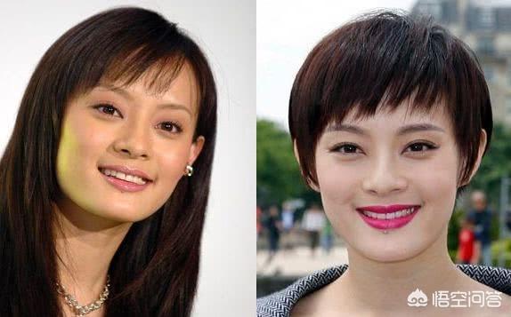 短发卷发图片女,有哪些适合方脸女生的短发?
