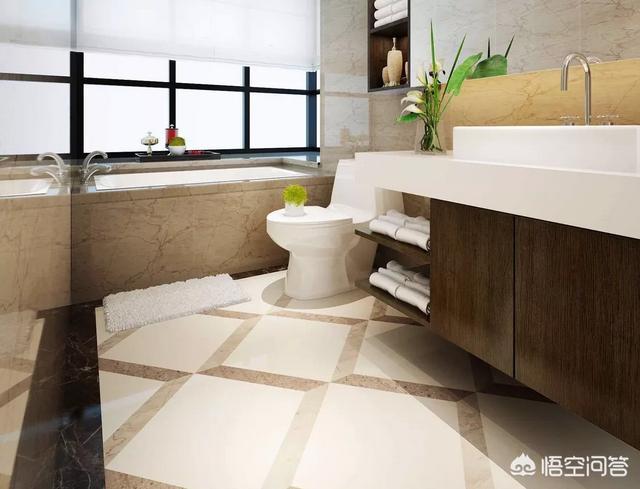 大理石瓷砖可以当卫生间地砖吗?