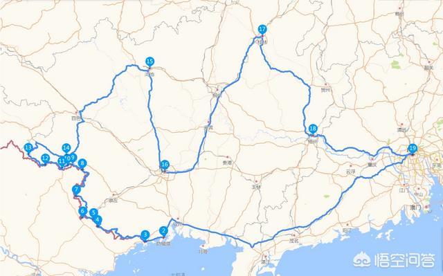 广东周边的省市有什么好线路和地点推荐?自驾游十五天?