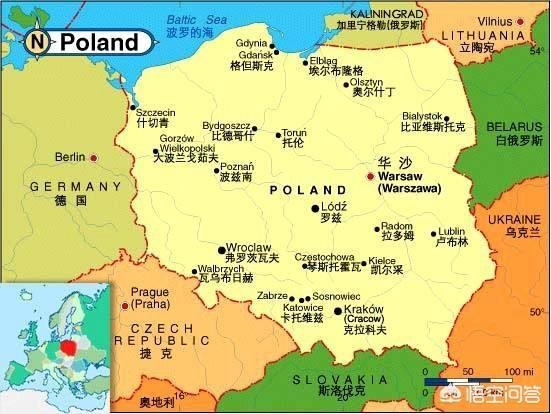 波兰共和国签证 波兰共和国周围有哪些国家?