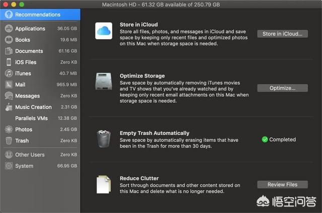 clutter,mac显示系统占96G怎么清理?