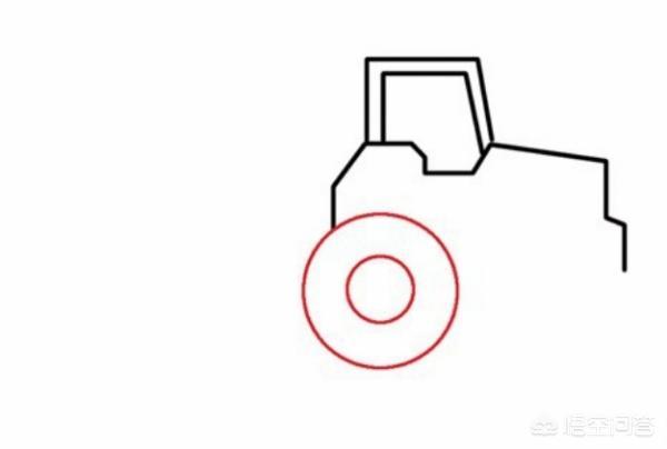 搅拌车简笔画,简笔画工程车之翻斗车的画法?