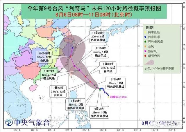 利奇马台风台州临海被淹 今年第9号台风利奇马对