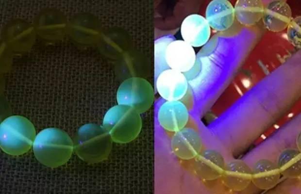 用紫光灯照真假钻石、紫光灯怎么鉴定假钻石、假钻石在紫光灯下图片插图14