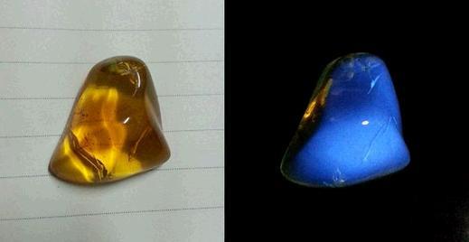 用紫光灯照真假钻石、紫光灯怎么鉴定假钻石、假钻石在紫光灯下图片插图9