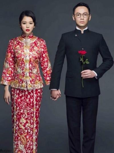 明星的中国风婚纱照都很喜庆,你认为哪一对最有品?