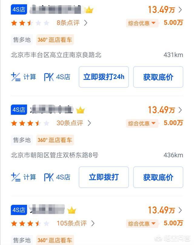 网上4S店汽车报价都很低,为何现实中一般比较贵?