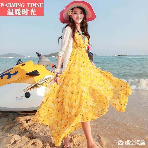 女生穿着沙滩长裙走路有什么感觉?