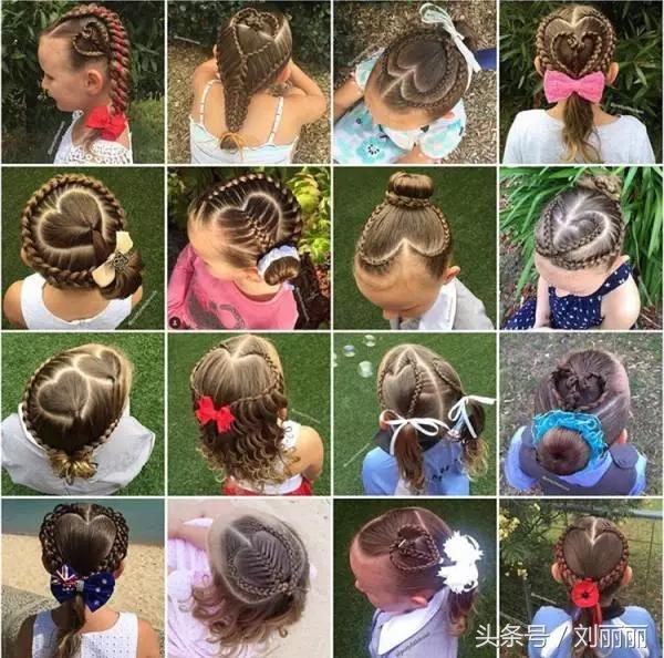女童扎发型图片大全集,女童短发怎样扎头发好看?