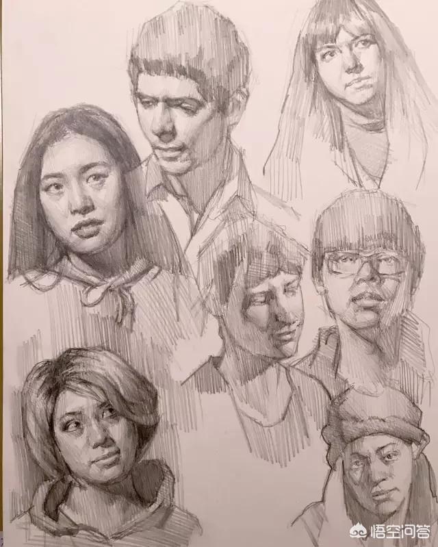 素描 头像,素描头像,如何把握黑白灰关系?