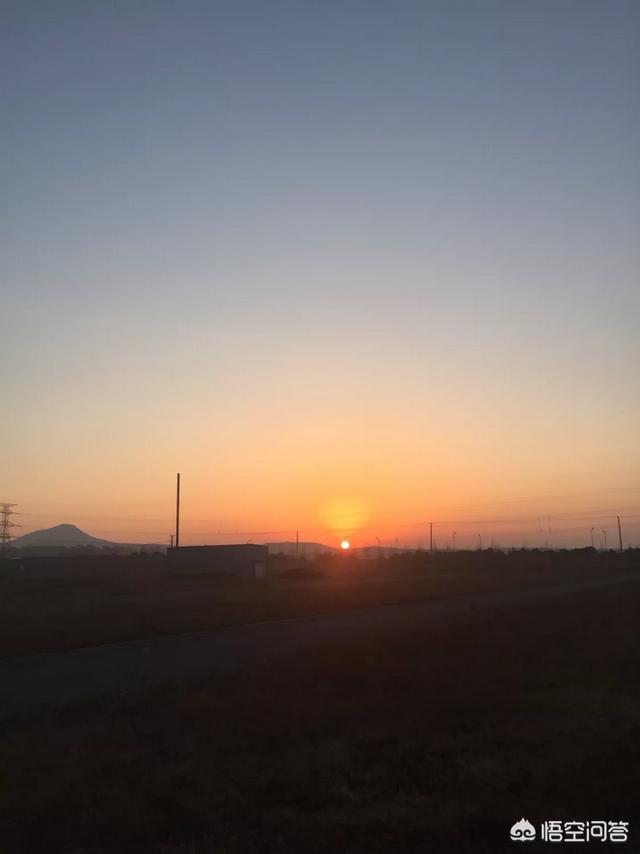 早上的太阳的真实图片,早上六点的太阳是什么样子?