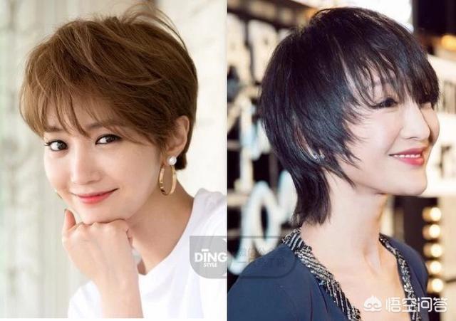 短发卷发图片女,发量少的妹子适合留短发吗?