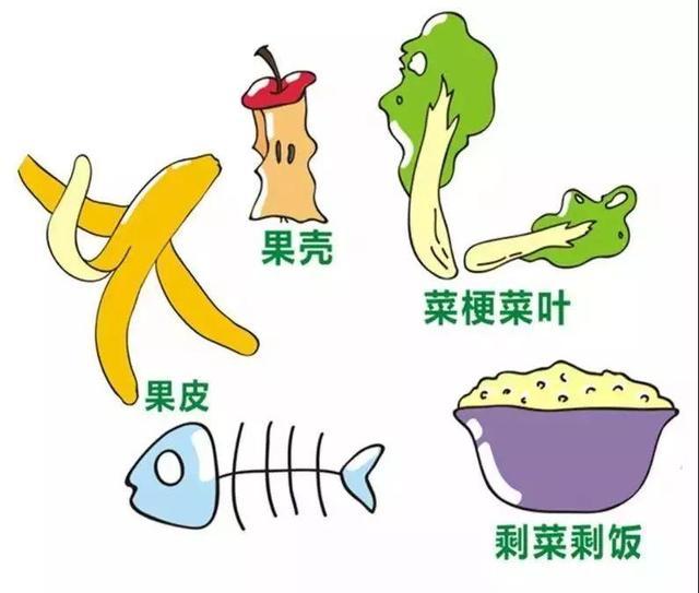 垃圾分类宣传画,幼儿园让画厨余垃圾,怎么画?