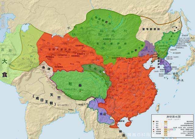 为什么唐朝鼎盛时期领土看着比清朝大,实则比清朝小很多?