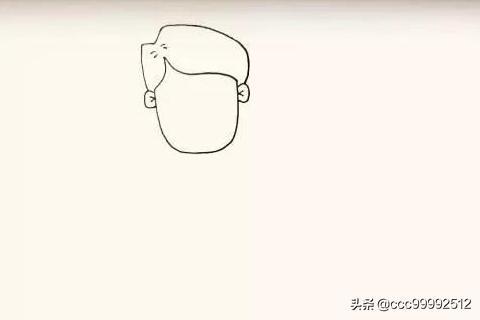 爸爸简笔画头像,我的爸爸的简笔画怎么画?