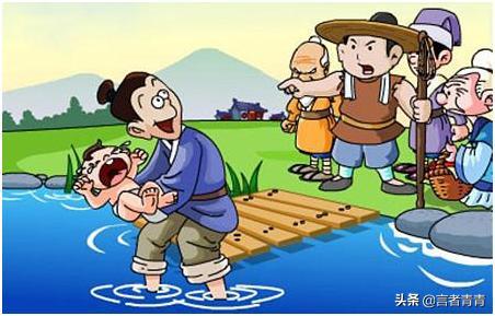 寓言故事图片,《投婴于江》是什么道理?