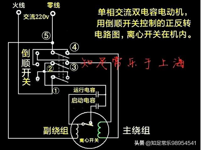 正反转电路图,单相电机电容能影响正反转吗?