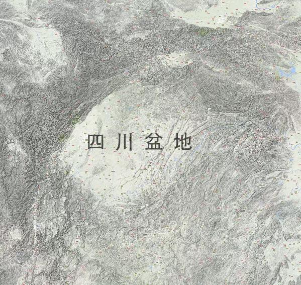 三国地图,蜀汉的疆域面积只比曹魏略小,东吴的地盘甚至比曹魏还大点(图12)