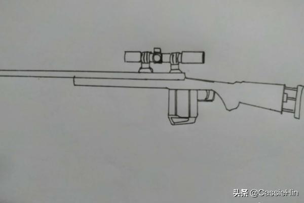 scp简笔画,和平精英M24狙击手绘教程?