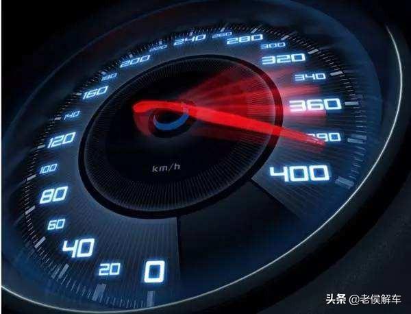 汽车速度表上的标志的意思?