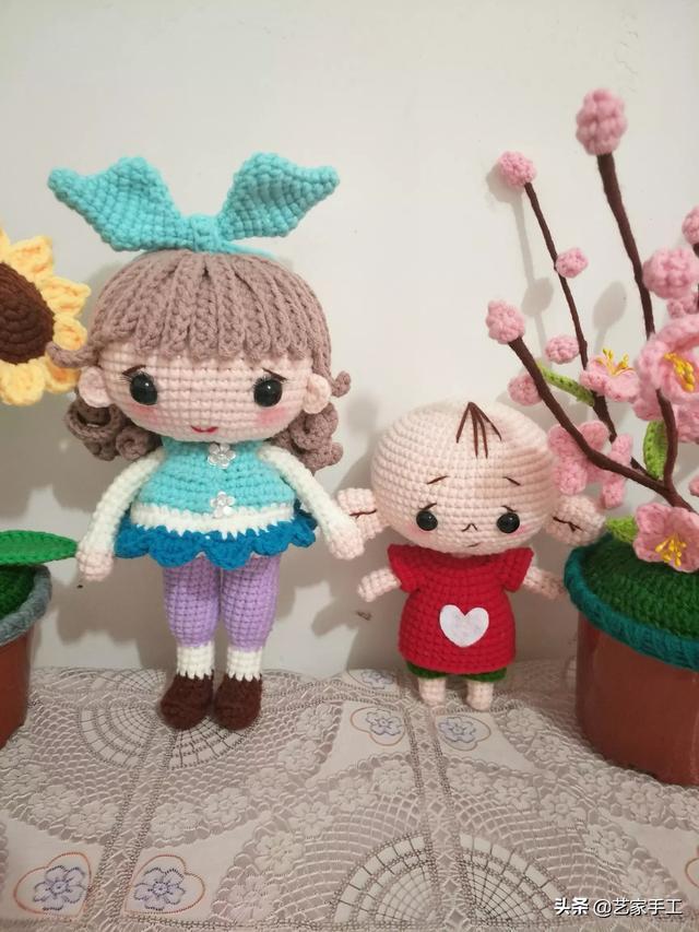 玩偶也疯狂,你会用毛线编织出玩偶吗?