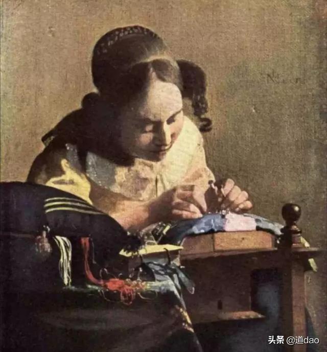 如何评价画家维米尔描绘的写实女人油画?他在西方画坛地位如何?插图2