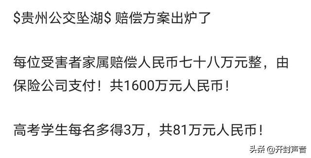 贵州公交坠湖事件查清了,造成的人身伤害和物
