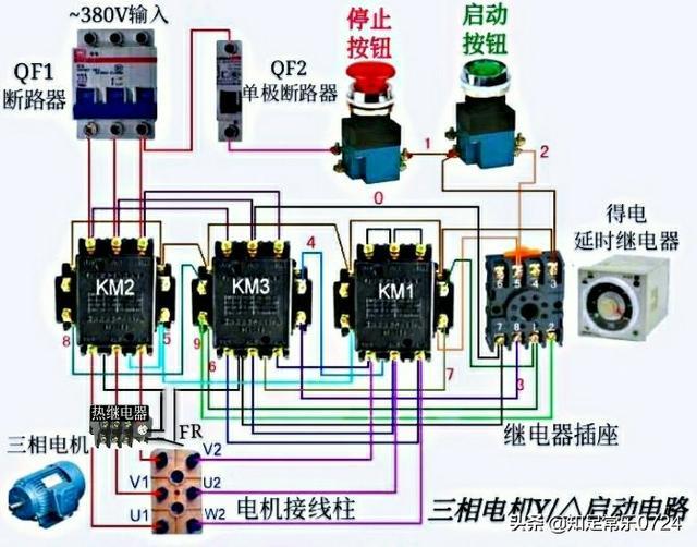 降压启动电路图,消防降压泵电机怎么接线?