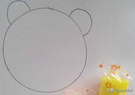 头像熊,动物小熊简单头像怎么画?