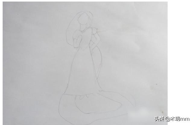 小公主怎么画简单漂亮,最简单的长发公主怎么画?