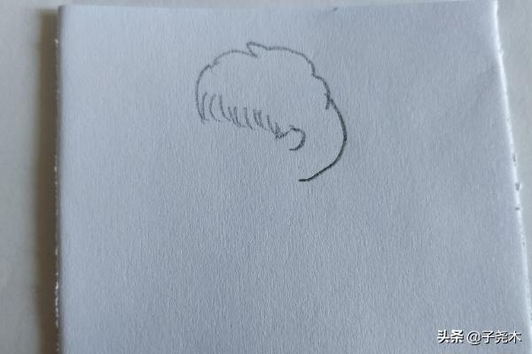 简笔画小男孩,侧着身子的男孩简笔画怎么画呢?